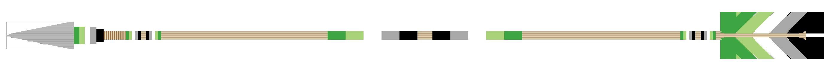 Arrow Divider - Aromantic, Version 2, Left