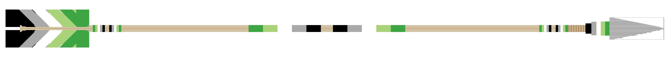 Arrow Divider - Aromantic, Version 2, Right